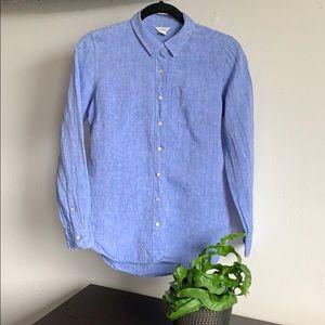🖐🏼🥳 5/$25 L.L. Bean Linen Button Down Shirt